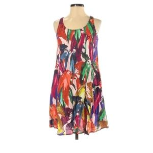Trina turk floral tank top dress sleeveless summer